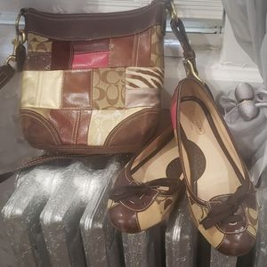 Coach flats with matching bag.